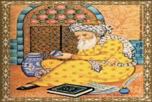 Une gravure représentant le joyeux Haydar prenant sa concoction de cannabis.